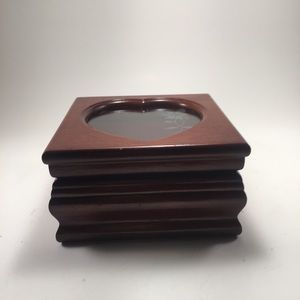 Asian Crafted Small Wooden Jewelry Box!